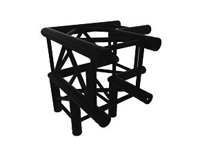 Black truss A290 No. 8287 - 500x500x500 mm - 3-cest